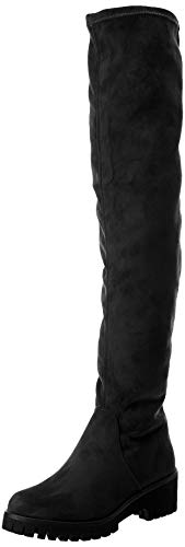 Tamaris Damen 25571-31 Overknees, Schwarz (Black 1), 38 EU - Overknee-stretch-stiefel Reißverschluss