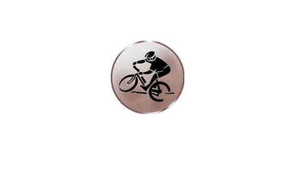 Motiv Mountainbike Durchmesser 50 mm Durchmesser Sportland Pokal//Medaille Emblem S.B.J