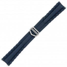 Tag Heuer 20–16mm 600Serie echt Leder blau Armbanduhr Band W. Schnalle