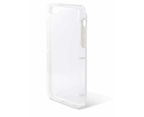 Ksix bord Coque rigide pour iPhone 5 C – Transparent Noir Blanc transparent