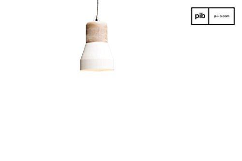 Hängelampe Newark XL - Massivholz, Natürliches Finish, Naturbelassenes Finish | Natürlicher skandinavischer Stil - Beige (L23 x H38 x P23 cm) -