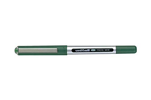 Uni-Ball UB-150 Eye Micro - Penna a sfera con punta da 0,5 mm, confezione da 12, colore: Verde