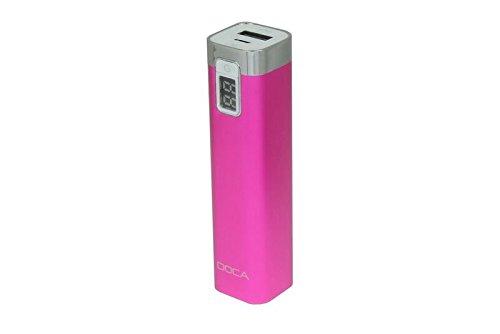 DOCA D516 Powerbank für Smartphones (2600mAh) pink