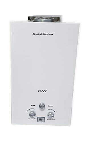 Gas Durchlauferhitzer Wasserboiler Boiler Gastherme Warmwasserbereiter Tragbar Camping Dusche 10 liter Campingdusche Pferdedusche