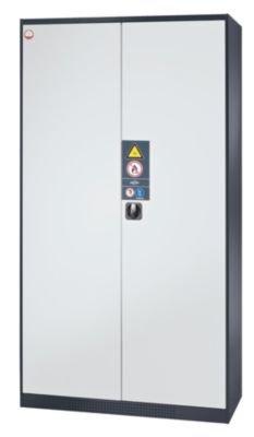 asecos Chemikalienschrank - Tür geschlossen - Türfarbe verkehrsrot RAL 3020 - Chemikalienschrank Gefahrstoffschrank Schrank Schutzschrank Schutzschränke Sicherheitsschrank Sicherheitsschränke Umweltschrank Öl-Lagerschrank Öl-Lagerschränke
