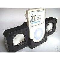 Ufficiale XVIDIA iPOD Nero pieghevole altoparlanti portatili per tutti i Apple con gli iPOD. Nano, Video 30 GB/60 GB/80 GB, foto o iPHONE