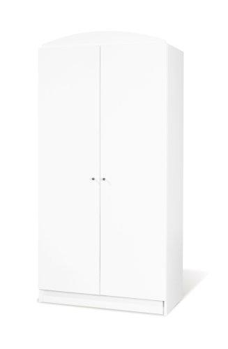 Pinolino Kleiderschrank Jil, moderner, 2-türiger Kleiderschrank, weiß, Maße 90 x 53 x 190 cm (Art.-Nr. 14 00 90)