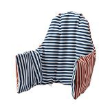 2x Ikea Antilop Highchair Cushion & Cover - Reversible with 2 colours red or blue (Model: PYTTIG)