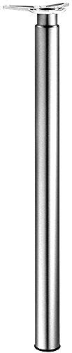 Möbelfuß verchromt Tischbein höhen-verstellbar +180 mm Tischfuß zylindrisch Metall - Modell H1731 | Verstellfuß Höhe 700-880 mm | Rohr-Ø 60 mm | GedoTec® powered by HÄFELE