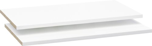 CS Schmalmöbel 75.000.012/62 Lot de 2 Tablettes Type 62 Blanc pour Armoires à Portes Coulissantes Soft Plus Smart à partir du Type 42 Bois 58x1.5x50 cm