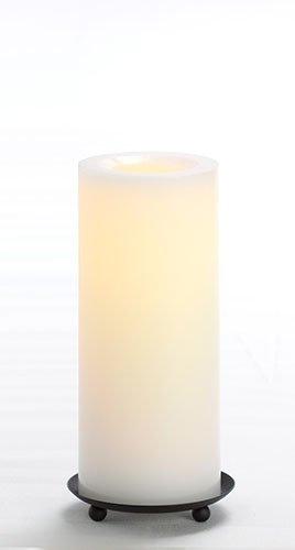 Candle Impressions Premium Flammenlose Echtwachskerze WEISS; Höhe 20,3cm; Durchmesser 8,2cm; mit Vanilleduft, 1000 Stunden Betriebszeit, inkl. integrierte Zeitschaltuhr/Timer (5 Stunden), LED Echtwachskerze, LED Kerze, Lampe, Adventskranz, Weihnachten, Laterne, Licht, Windlicht, Tischlicht, Tischdekoration, Batteriebetriebene Kerze, Elektrische Kerze Weihnachtlicht Echtwachs Kerze
