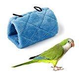 ETbotu Papagei Vogel Hängematte aufhängen Höhle Käfig Snuggle Happy Hütte Zelt Bett Etagenbett Parrot Spielzeug Grün (S), blau, M (Vogel-zelt Medium)