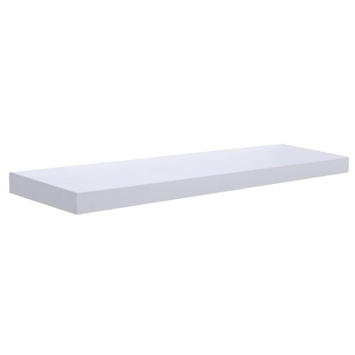Songmics Estantes flotante para libros CDs Estanterías de pared (100 x 20 x 3,8 cm, blanco) LWS11W
