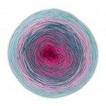 Woolly Hugs Bobbel Cotton Fb. 33, 200g Bobbel mit schönem Degradé - Farbverlauf,