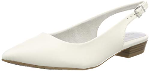 Tamaris Damen 1-1-29402-22 Slingback Pumps, Weiß (White MATT 108), 36 EU Sling Pumps Schuhe