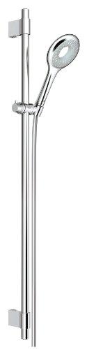 Grohe Rainshower Icon 100 Brause- und Duschsysteme - Brausestangenset (900mm, 1 Strahlart, variable Bohrlöcher zur Befestigung) chrom, 27379000