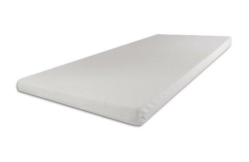 Viscoelastische Matratzenauflage 200 x 90 x 9cm H3 mit Bezug Ideal