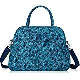 Lily & Drew Carry on über Nacht Reisetasche Weekender Schultertasche für 39,6cm Laptop für Frauen Blau Leaf Blue Medium - Papierkorb Tote