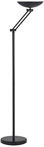 Unilux Dely Lampadaire LED 30W 3000 Lumens Articulé à Variation d'intensité Lumineuse 186 x 33,5 cm Noir