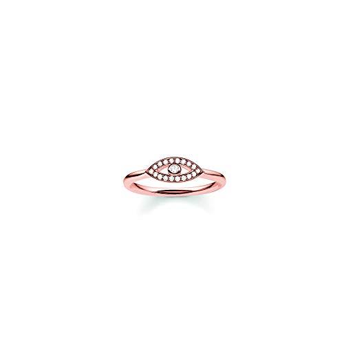 Thomas Sabo Damen-Ring Glam & Soul 925 Sterling Silber 750 rosegold vergoldet Zirkonia weiß Gr. 52 (16.6) TR2075-416-14-52