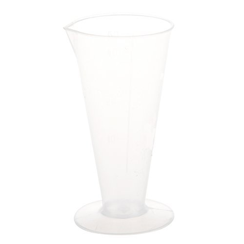 TOOGOO(R) 50ml Verre conique de mesure de liquide en plastique