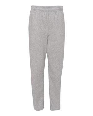 Adult 8 oz. NuBlend� Open-Bottom Fleece Sweatpants ATHLETIC HEATHER S (Pant Bottom Open Fleece)