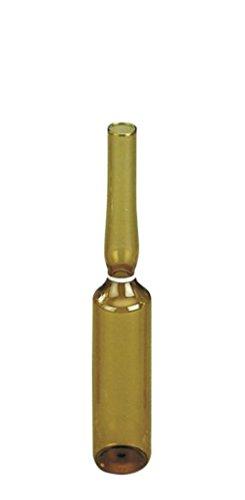 neoLab 3-1266 Spießampullen aus Fiolax Braunglas, 5 mL, 83 mm x 14,75 mm (343-er Pack) -