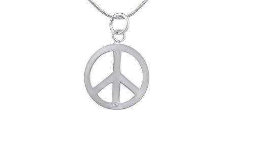 hanessa Peace Paix Pendentif Collier de Chaîne bijou Femme Fille en argent plaqué argent