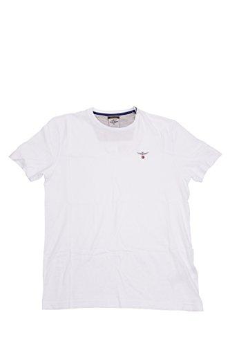 Aeronautica Militare Herren T-Shirt, einfarbig Bianco
