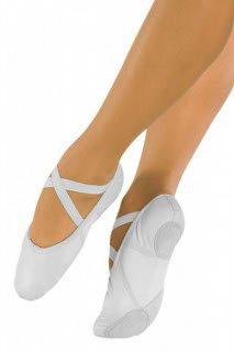 So Danca Ballettschläppchen Leder, Weite M white