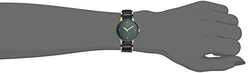 Rado Women's Centrix Diamond 31mm Two Tone Ceramic Band & Case Quartz Black Dial Analog Watch R30930712