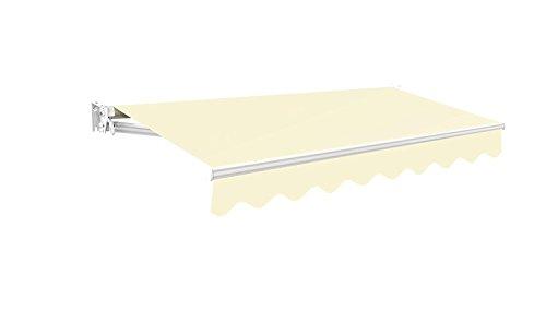 Toldo Primrose Manual 3m - Marfil Kensington DIY Toldo de Terraza tipo...