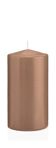 Stumpenkerzen Kerzen Karamell, Karamell 10 x 8 cm (H x Ø), 6 Stück, Wiedemann Kerzen, Markenkerzen Made in Germany in RAL Qualität