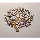 LaserKris Holz MDF Baum Form 150mm Blanko, Family Tree, Hochzeit, Gästebuch, Laser Geschnitten 3mm Dick
