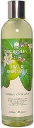 Lime and Bergamot by Bronnley Bath and Shower Wash 300ml
