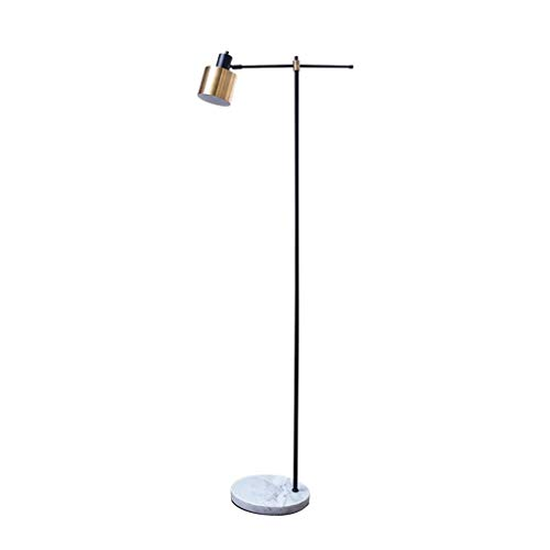 Stehlampe NordicWrought Eisen Gold Schwarz Marmor Sockel Stehendes Licht Schlafzimmer Wohnzimmer Fußschalter -