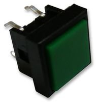 SWITCH, PUSH BUTTON, SQUARE, SPST, GREEN TS0A26 By Best Price Square