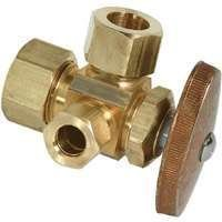 Brass Craft Cr3901lx R1 Dual Outlet Water Supply Line Valve, 1/2nom X 1/2od Cmp by BrassCraft