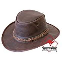 Sombrero Piel Sundowner by Scippis sombrero moldeablepiel natural (XL/60-61 - marrón oscuro)