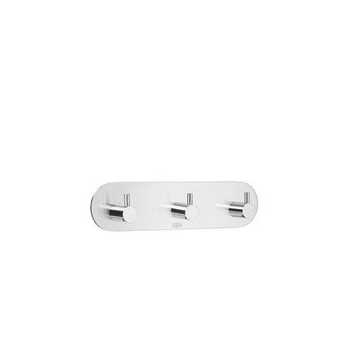 Design-dreifach-haken (Beslagsboden Dreifach-Haken Design selbstklebend Edelstahl poliert, Silber, 190mm)