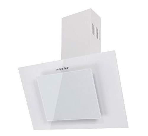 F.Bayer • Weiße Dunstabzugshaube 50cm • Abzugshaube • Wandabzugshaube • Abluft/Umluft • 3 Stufen • 500 m³/h • 50 cm • Weißes Glas Metall •kopffreihaube•Randabsaugung