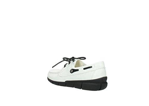 Laccio Wolky scarpe, 1509 Cahita 710 weiß Leder