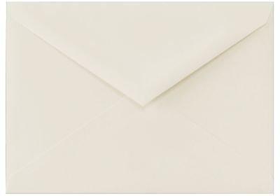 4bar RSVP Briefumschläge (35/8x 51/8In) (92x 117mm)–(50Stück.) 100% Cotton Natural White