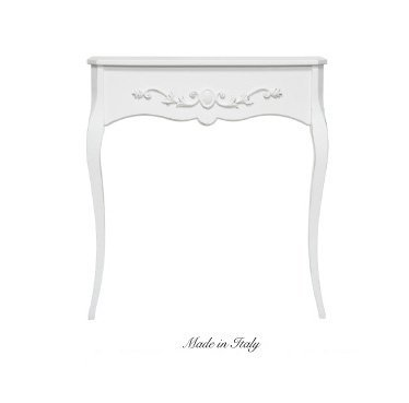 Consolle in legno stile vintage con fregio centrale disponibile in diverse rifiniture L'ARTE DI NACCHI 4982/BG