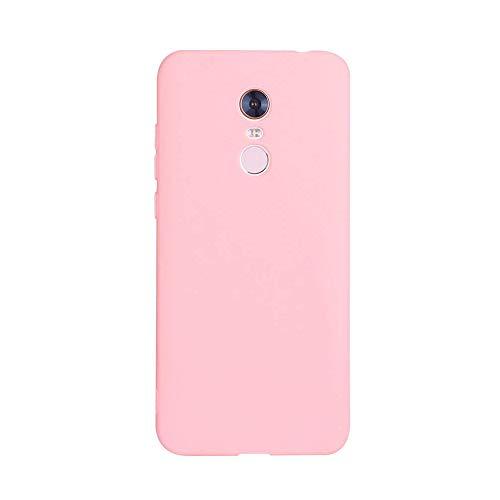Caler Case Xiaomi Redmi 5 Plus Funda con Absorción de Choque Flexible y Duradera con Carbono Fibra Diseño para Xiaomi Redmi 5 Plus Silicona Fundas Caso Carcasas Protectora (Rosa)