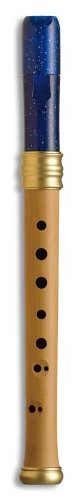 Mollenhauer Blockflöte Sopran Blockflöte Barock 1119B Adris Traumflöte, Holz/Kunststoff, nachtblau, Doppellöcher