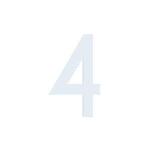 Zahlen Hausnummer schwarz 20 cm hoch Briefkasten Aufkleber ohne Hintergrund aus Hochleistungsfolie Nummer 3 mal Nummer 35  hochwertige Zahlenaufkleber M/ülltonne,M/ülltonnen Uahlenaufkleber wetterfeste
