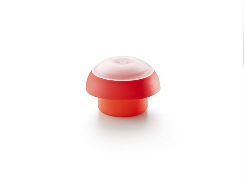 Lékué – Molde de silicona para cocer huevos, cilíndrico, color rojo