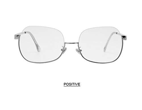 WSKPE Sonnenbrille,Anti Blaues Licht Brillengestell Hälfte Frame Sonnenbrille Frauen Männer Klar Sonnenbrille Uv400 Silber Rahmen Klare Linse