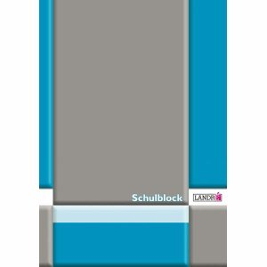 10 x Landre Schulblock A4 50 Blatt 70 g/qm 4-Fach gelocht Lineatur 21 (liniert)